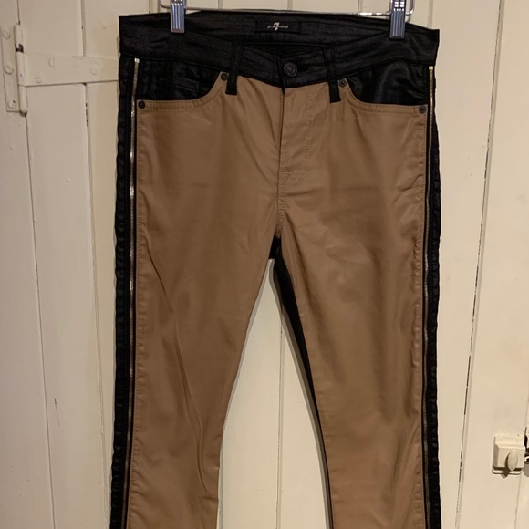 7 for All Mankind Waxed Double Sided Jeans size 28